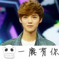 2012最新带字的鹿晗QQ头像图片