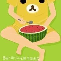 卡通风格的QQ西瓜头像