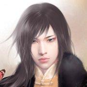 手绘古装帅气长发男子QQ头像图片