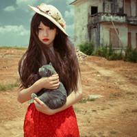 爱猫的女生QQ头像:猫是我生活中或不可缺的唯一