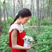 喜欢穿红色裙子的女生漂亮头像