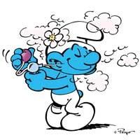 蓝精灵微信头像_可爱的蓝精灵QQ头像