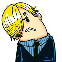 歪着脑袋的QQ可爱卡通头像设计
