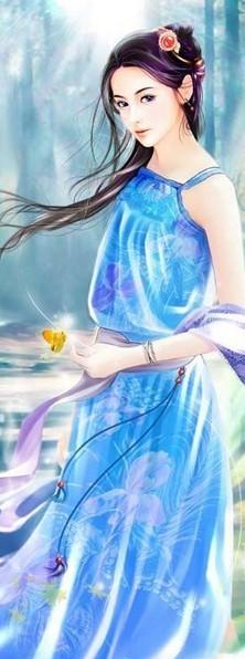 手绘的qq女生皮肤 手绘古装美女qq皮肤图片(4)
