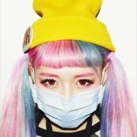 唯美戴口罩的QQ女生头像