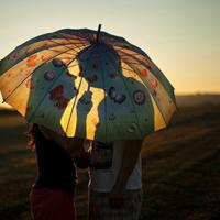 幸福浪漫情侣背影头像,看着你总是有种怦然心动的感觉