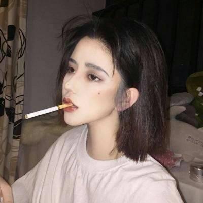 2018qq头像女生霸气伤感抽烟图片 接受成长接受所有不