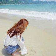 小清新女生海边背影头像高清2018 一个人在海边头像孤单背影