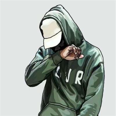 2018最潮男生动漫头像超酷欧美风 戴帽子不露脸男动漫图片