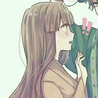 她在闹你在笑  可爱动漫头像