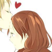 qq非主流情侣头像 情侣头像一左一右 一男一女 带字的图片