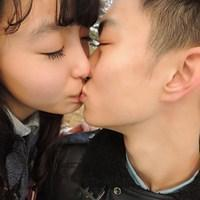 接吻情侣头像一男一女,2014最新唯美情侣接吻的头像图片