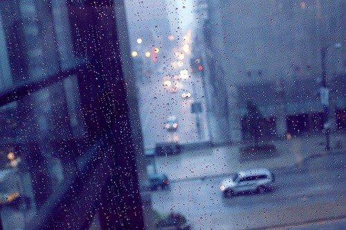 下雨天伤感图片
