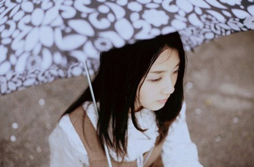 雨中撑伞图片