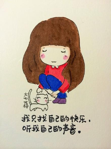 手绘卡通女生简单图片