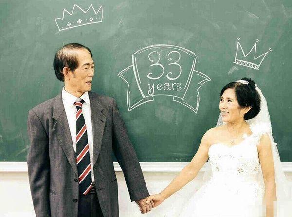老年人婚纱照片