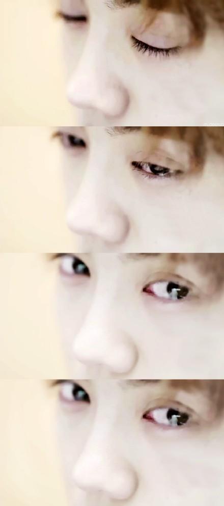 鹿晗的眼睛图片