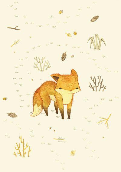 可爱小动物素描图片