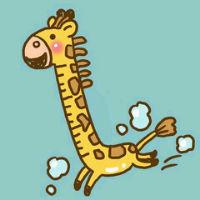 超萌卡通长颈鹿头像