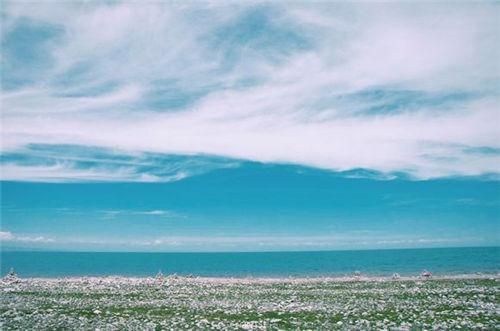 唯美意境图片大海蓝天