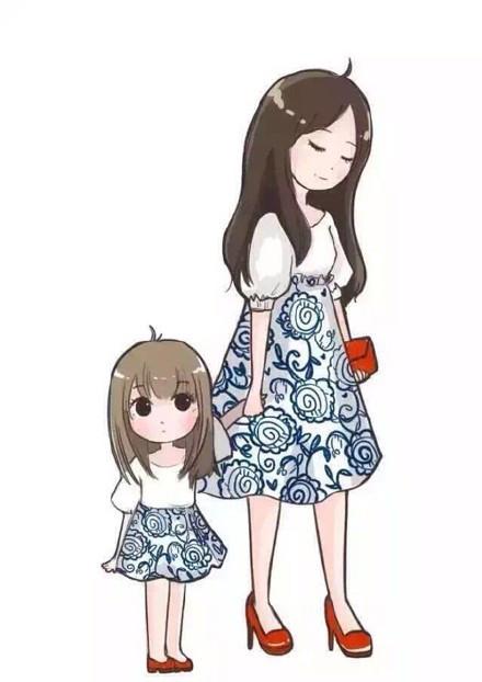 qq母女皮肤 超可爱的母女亲子装