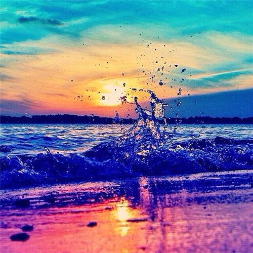 唯美意境面朝大海图片