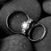 浪漫情侣戒指头像一左一右
