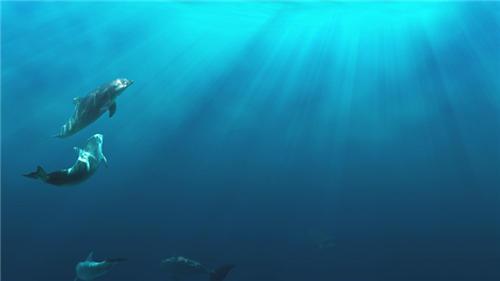 唯美的蓝色海洋图片大全