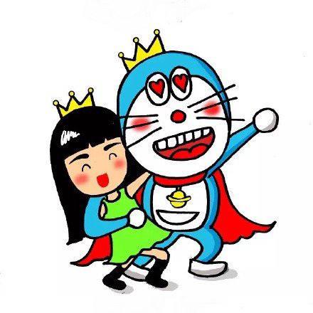 哆啦A梦与Grace姐姐动漫图片
