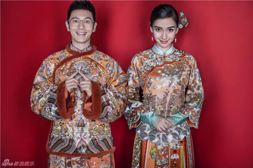 杨颖和黄晓明婚纱照,黄晓明和angelababy婚纱照片