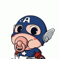 吸奶嘴的可爱卡通人物qq头像