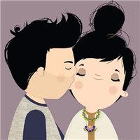 萌萌哒的卡通QQ情侣头像