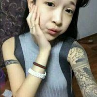 社会范儿的女生纹身头像