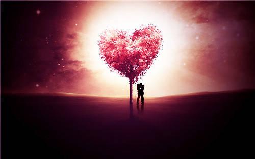 情侣紧紧相拥在一起的唯美图片