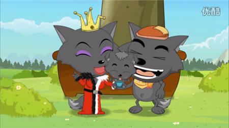 灰太狼和红太狼图片