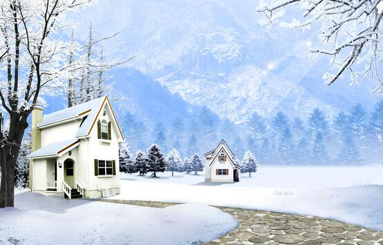 描写冬季风景的唯美句子