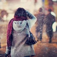 下雪的女生头像