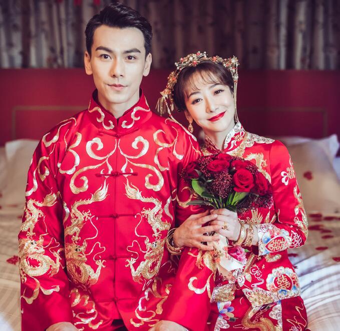 戴向宇和陈紫函结婚照片