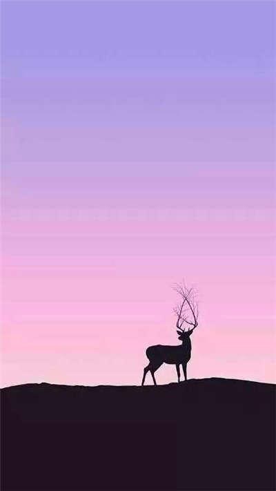 唯美好看的麋鹿QQ皮肤
