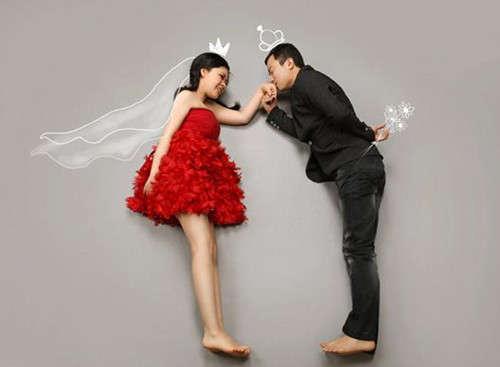 个性创意婚纱照图片欣赏
