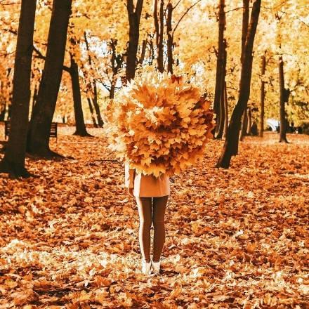 秋天的童�唯美�D片